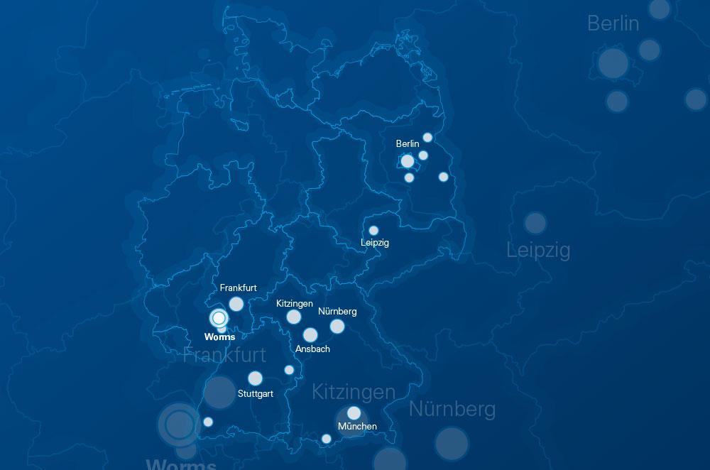 Standortkarte DEWEtech