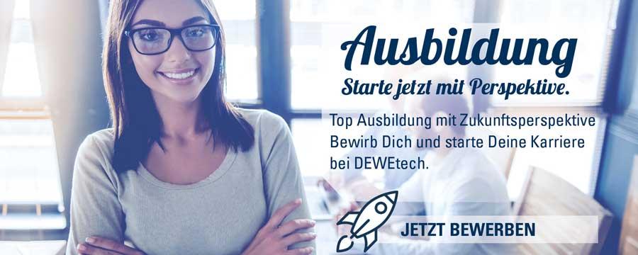 DEWEtech Azubisuche Banner